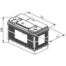 Bosch 0 092 L40 340, 105А·ч