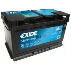 Exide EL800, 80А·ч